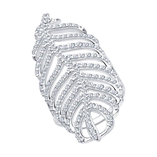 Серебряное кольцо с фианитами SOKOLOV 94013131 в Екатеринбурге