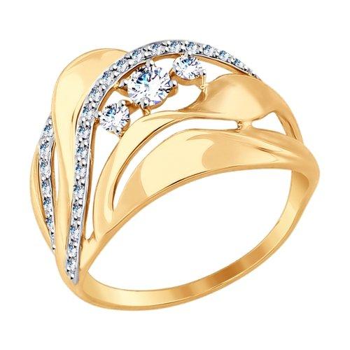 Золотое кольцо с фианитами SOKOLOV 017501* в Екатеринбурге