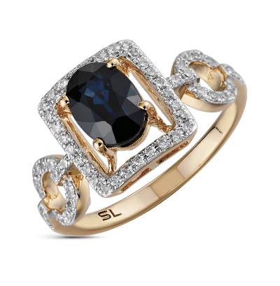 Фото «серебряное кольцо с сапфирами и бриллиантами»