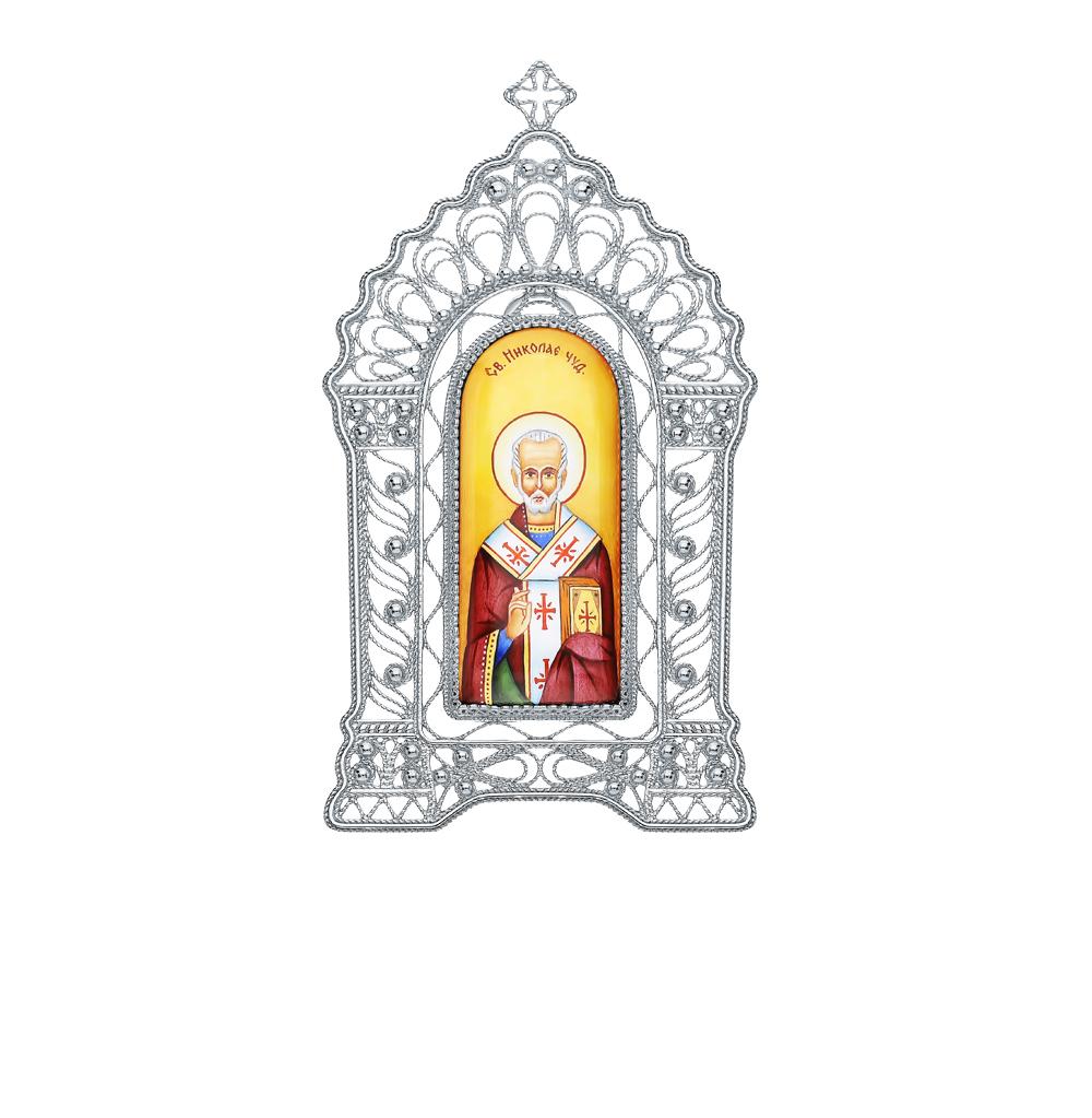 Серебряная икона с эмалью в Санкт-Петербурге
