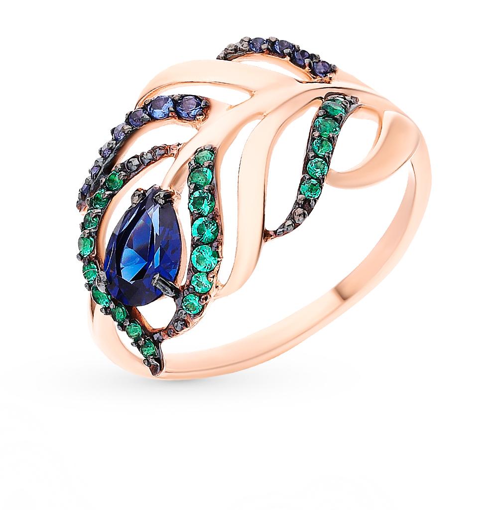 Фото «Золотое кольцо с фианитами SOKOLOV 017080*»