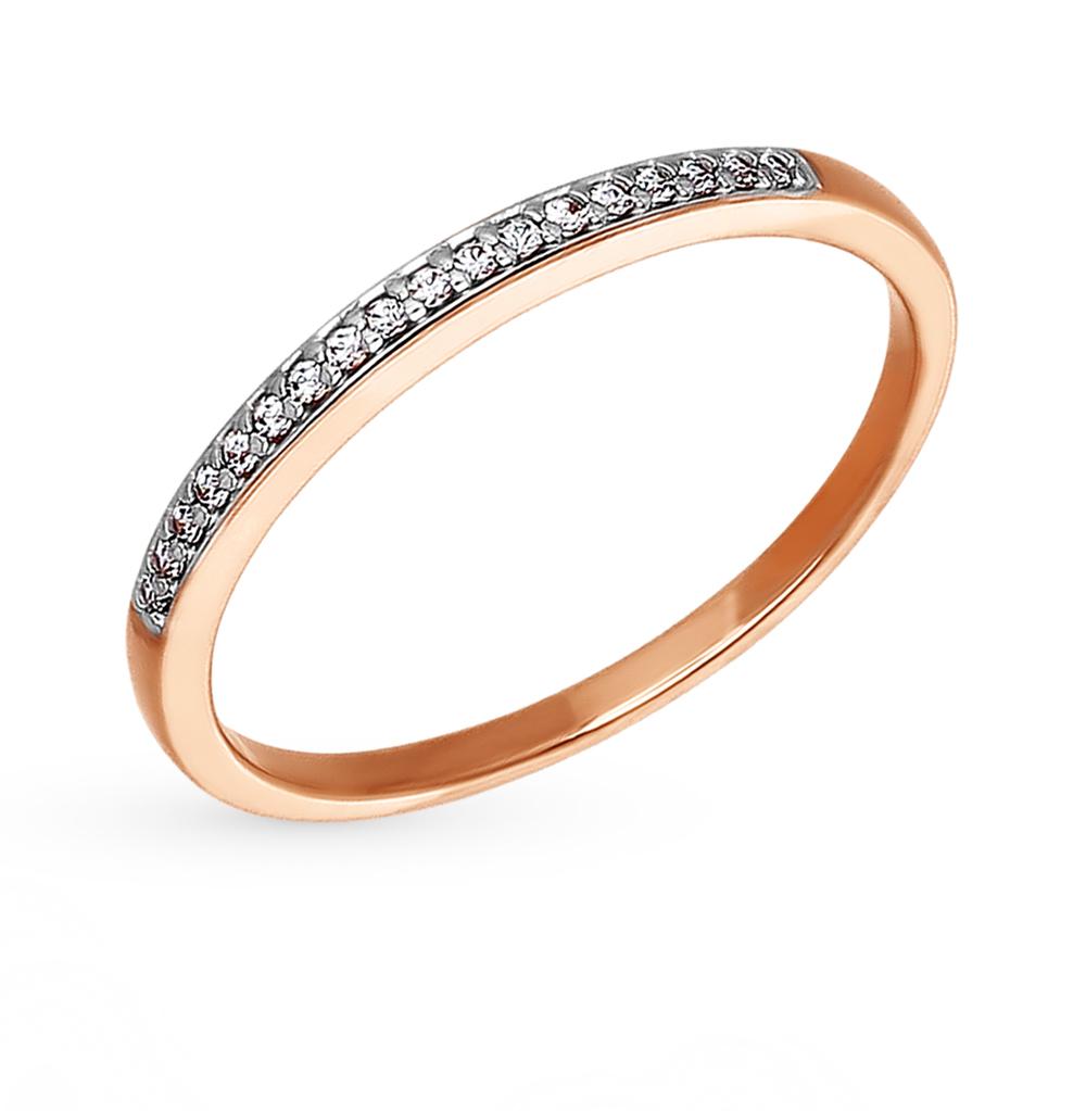 Фото «Золотое кольцо с фианитами SOKOLOV 015911*»
