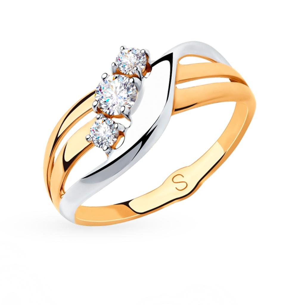 Золотое кольцо с фианитами SOKOLOV 018237 в Екатеринбурге