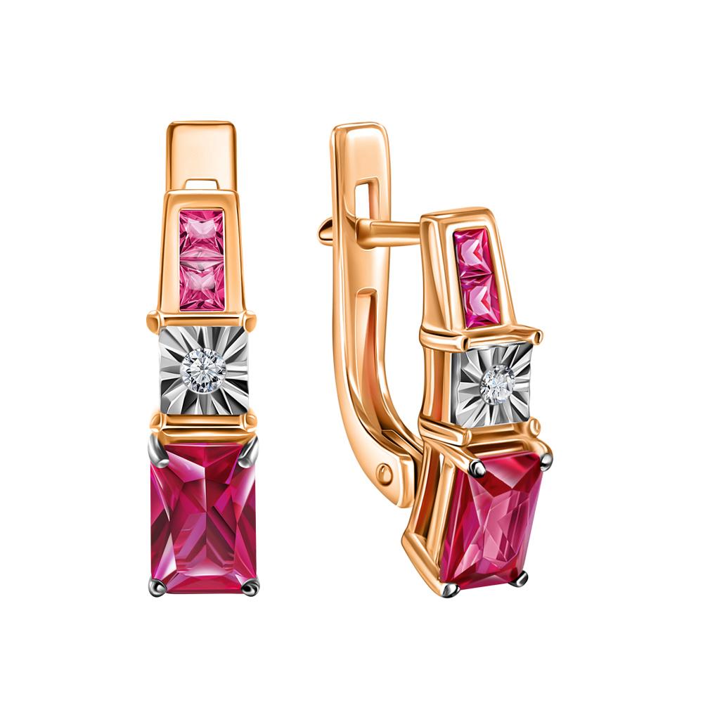Фото «Золотые серьги с рубинами и бриллиантами»