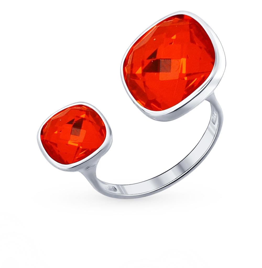серебряное кольцо с кристаллами swarovski SOKOLOV 94011879