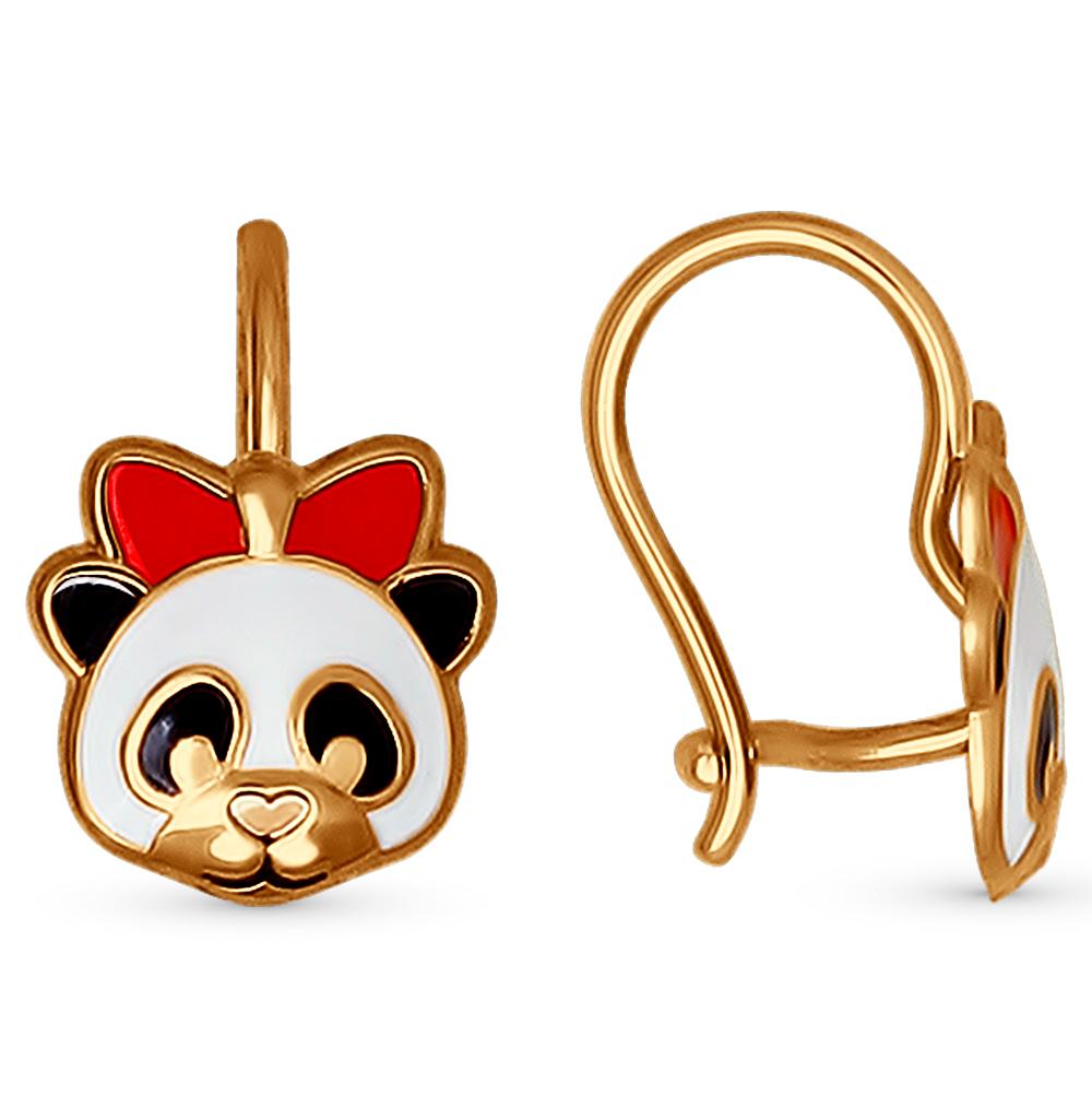 Золотые серьги с эмалью SOKOLOV 027352* в Екатеринбурге