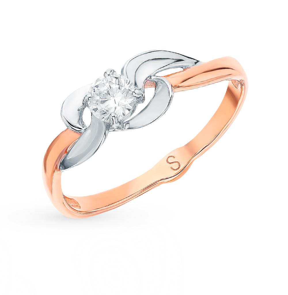 Фото «Золотое кольцо с фианитами SOKOLOV 017918*»
