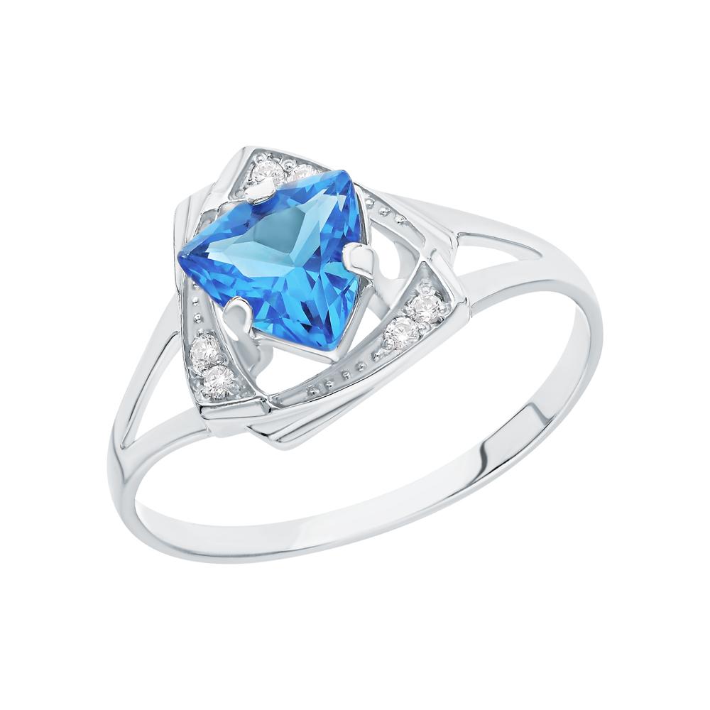 Фото «Серебряное кольцо с фианитами и ювелирными кристаллами»