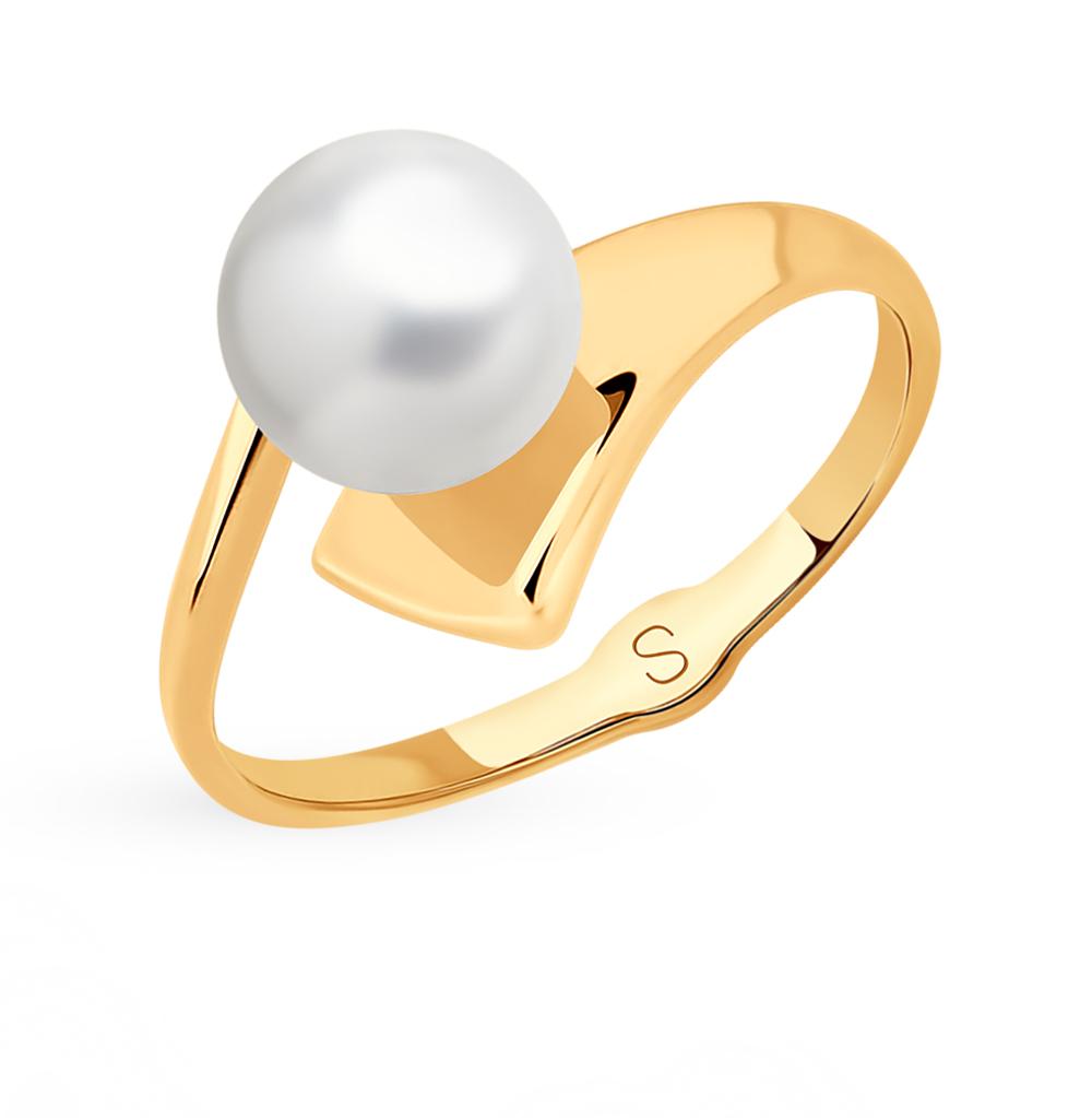Фото «Золотое кольцо с жемчугом SOKOLOV 791101*»