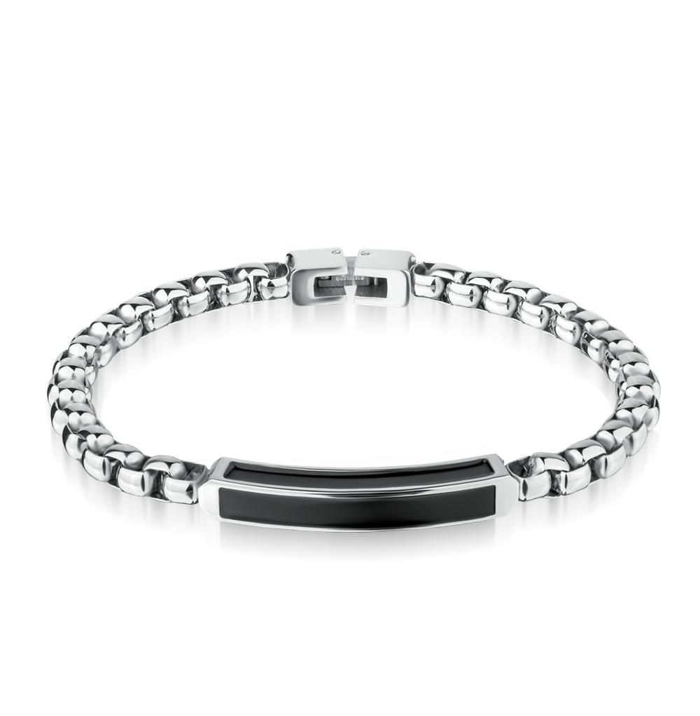 стальной браслет с эмалью