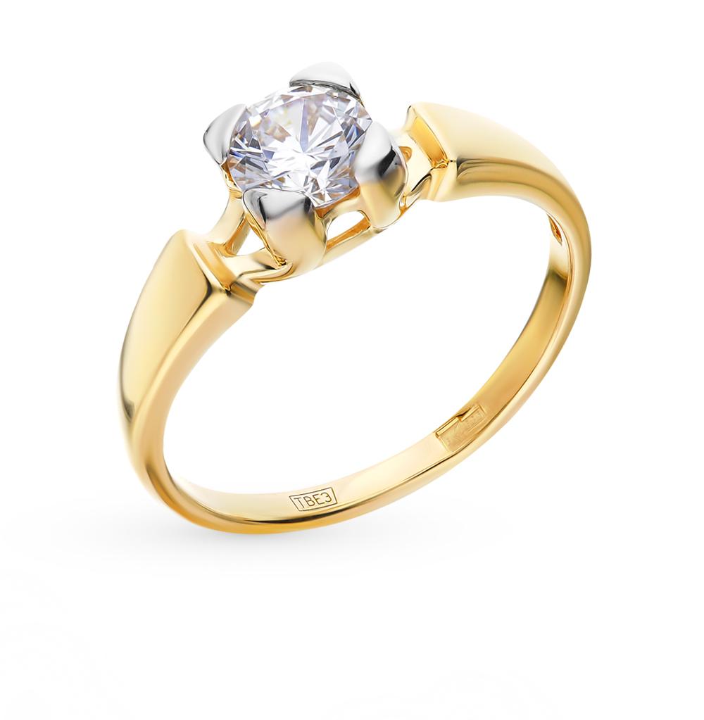 золотое кольцо с фианитами SOKOLOV 017525-2*