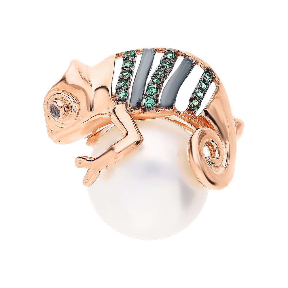 Фото «Золотая булавка с жемчугом и наношпинелями»