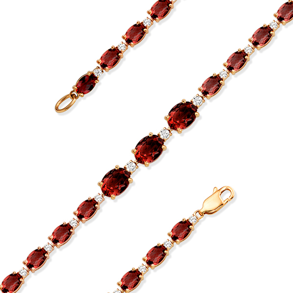 Фото «Золотой браслет с рубинами»