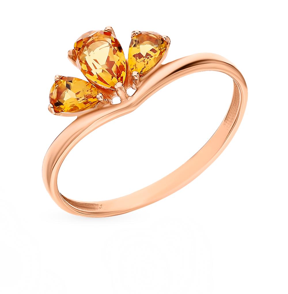 Золотое кольцо с цитринами в Санкт-Петербурге