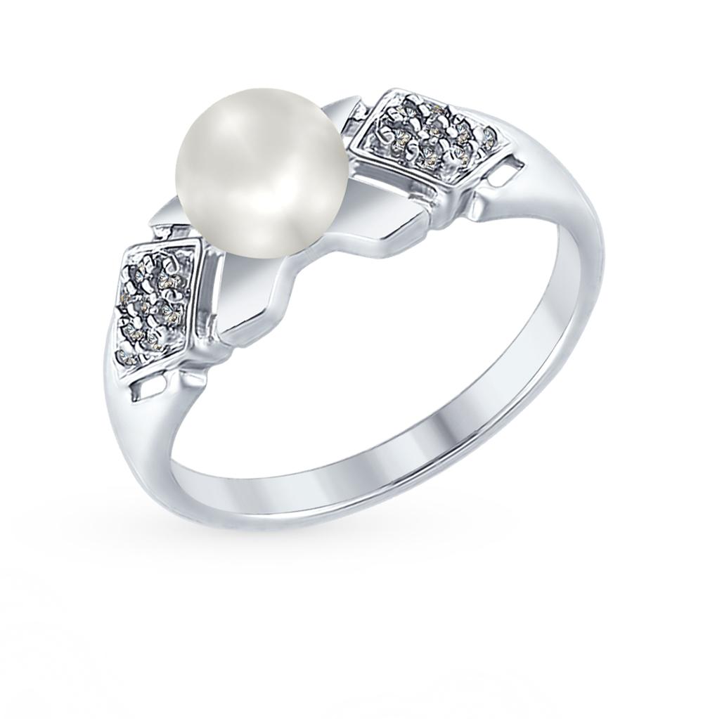 серебряное кольцо с кубическими циркониями SOKOLOV 94012352