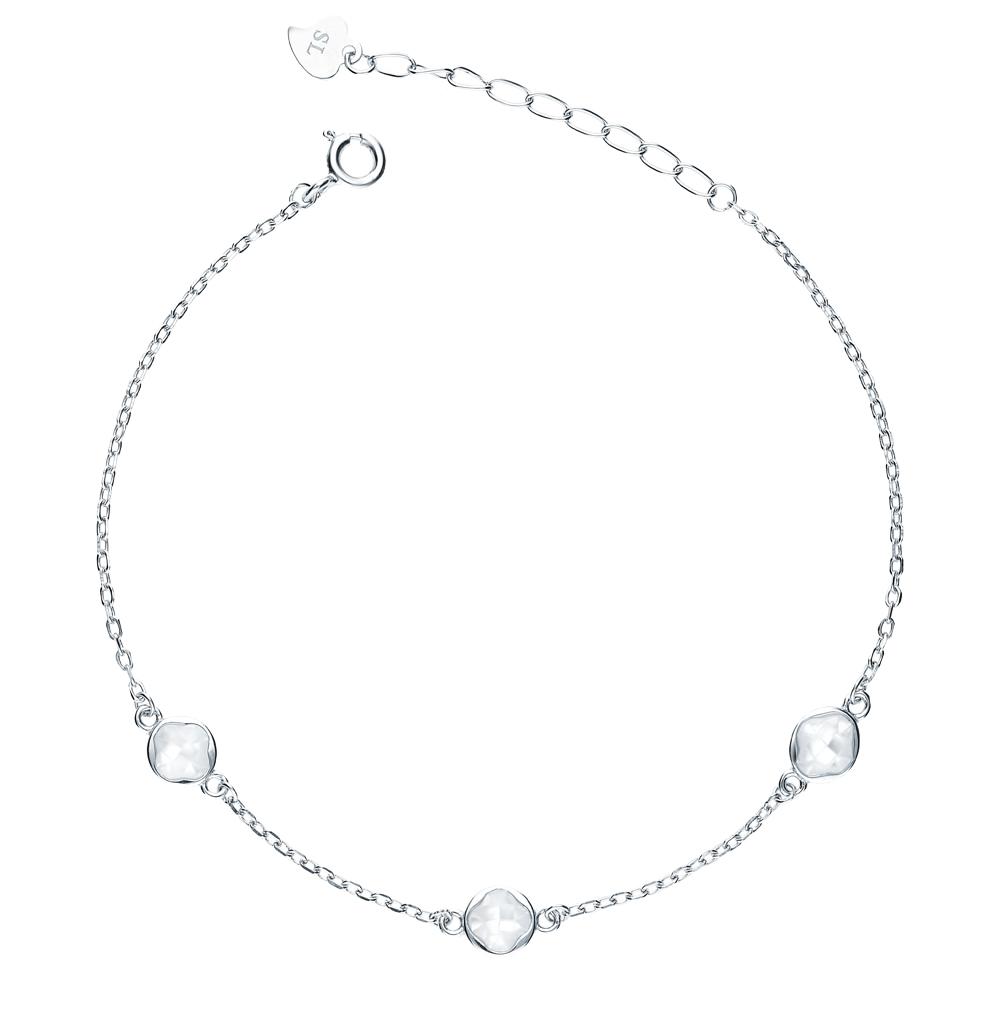 серебряный браслет с перламутром