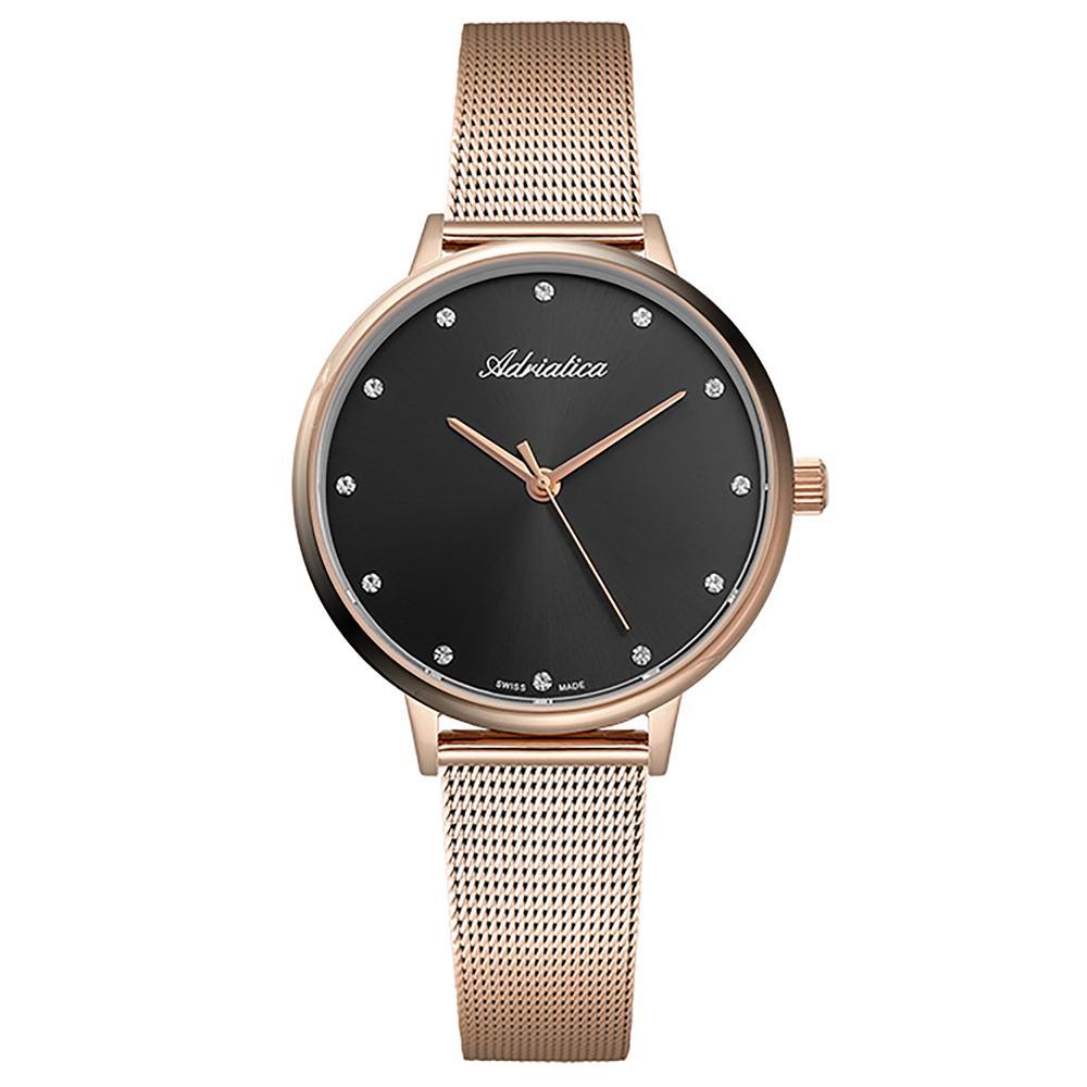 Фото «Женские часы A3573.9144Q на стальном браслете с розовым PVD покрытием с минеральным стеклом»