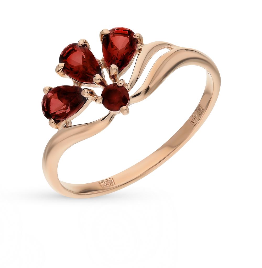 золотое кольцо с гранатом SOKOLOV 714594*