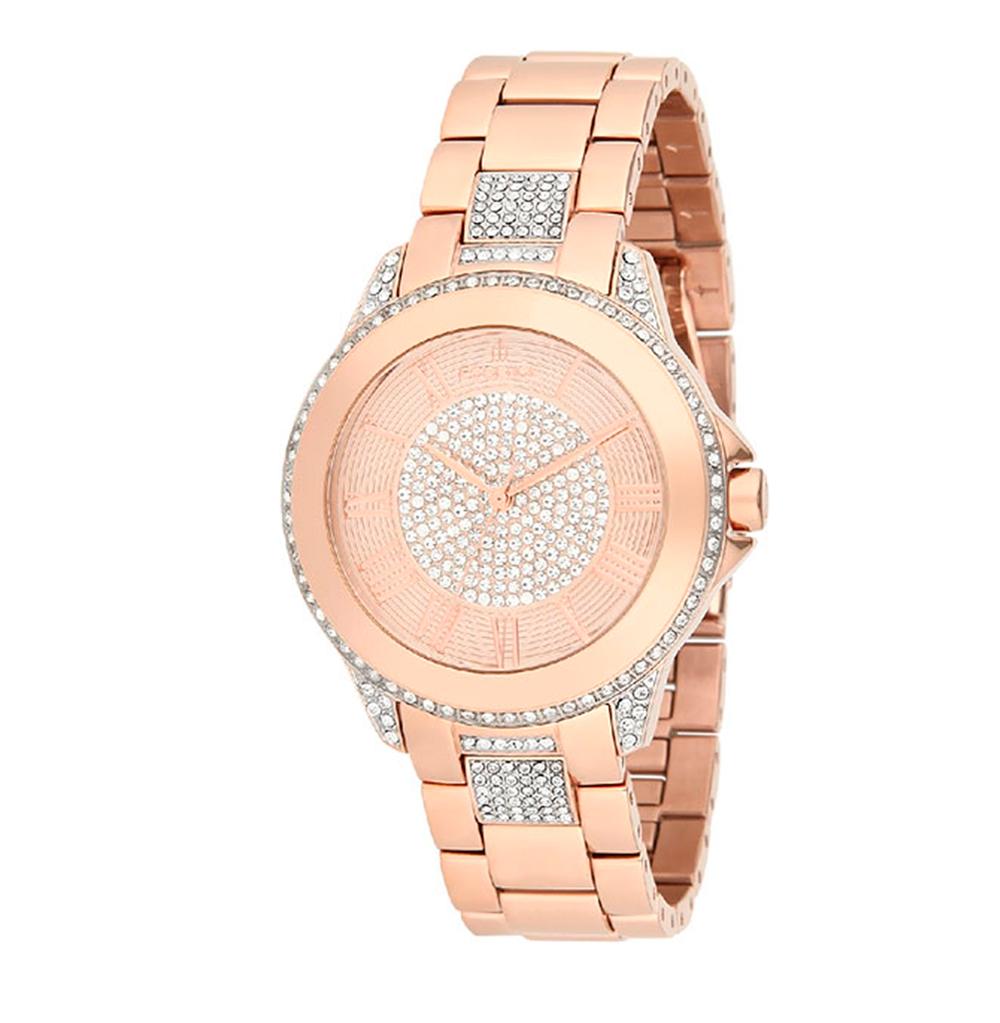 Женские часы ES6339FE.410 на стальном браслете с розовым PVD покрытием с минеральным стеклом