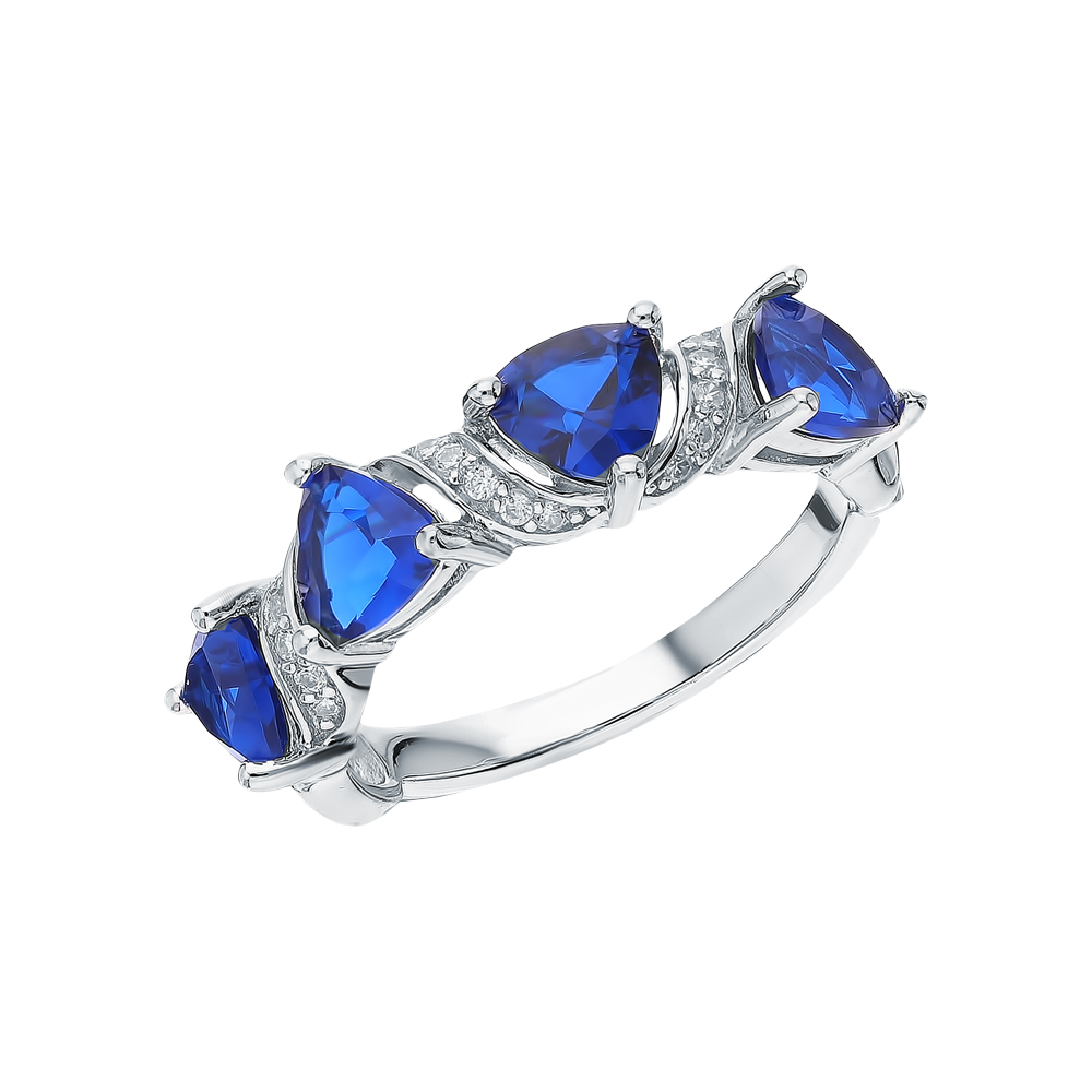 Серебряное кольцо с фианитами и шпинелями синтетическими в Санкт-Петербурге