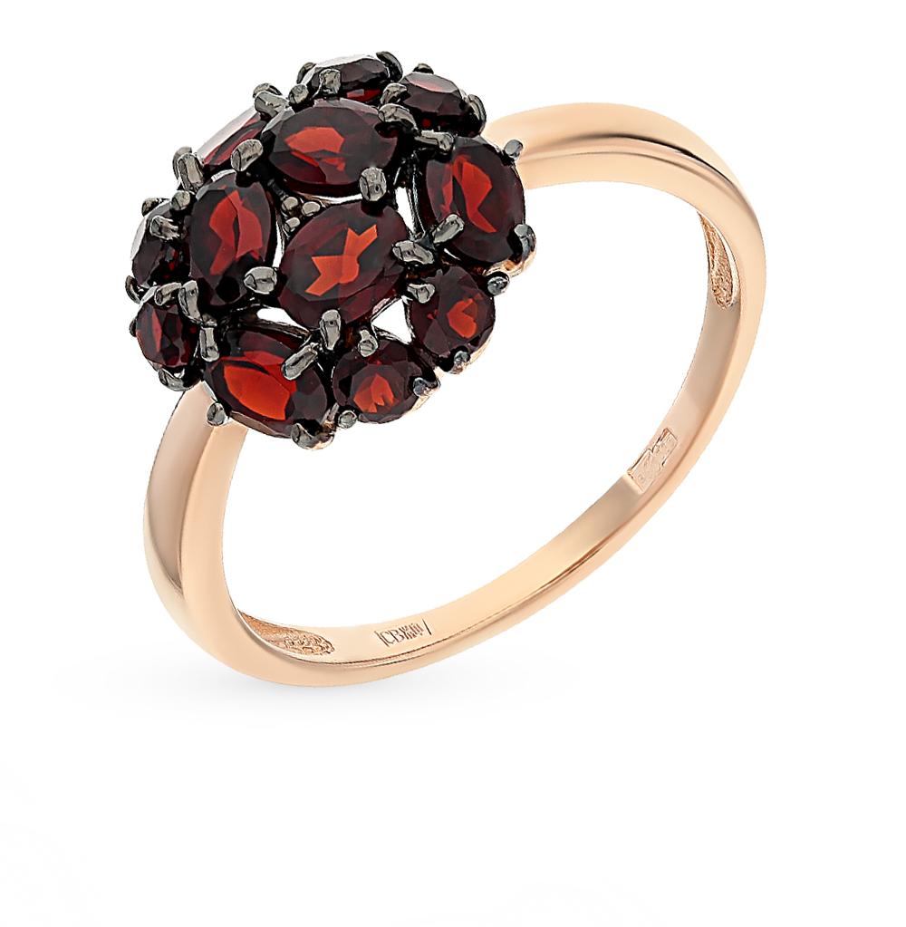 золотое кольцо с гранатом SOKOLOV 714096*