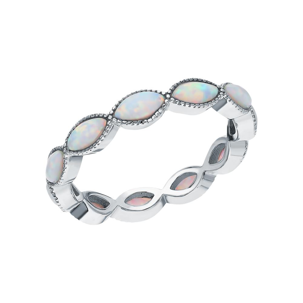 Серебряное кольцо с опалами в Санкт-Петербурге