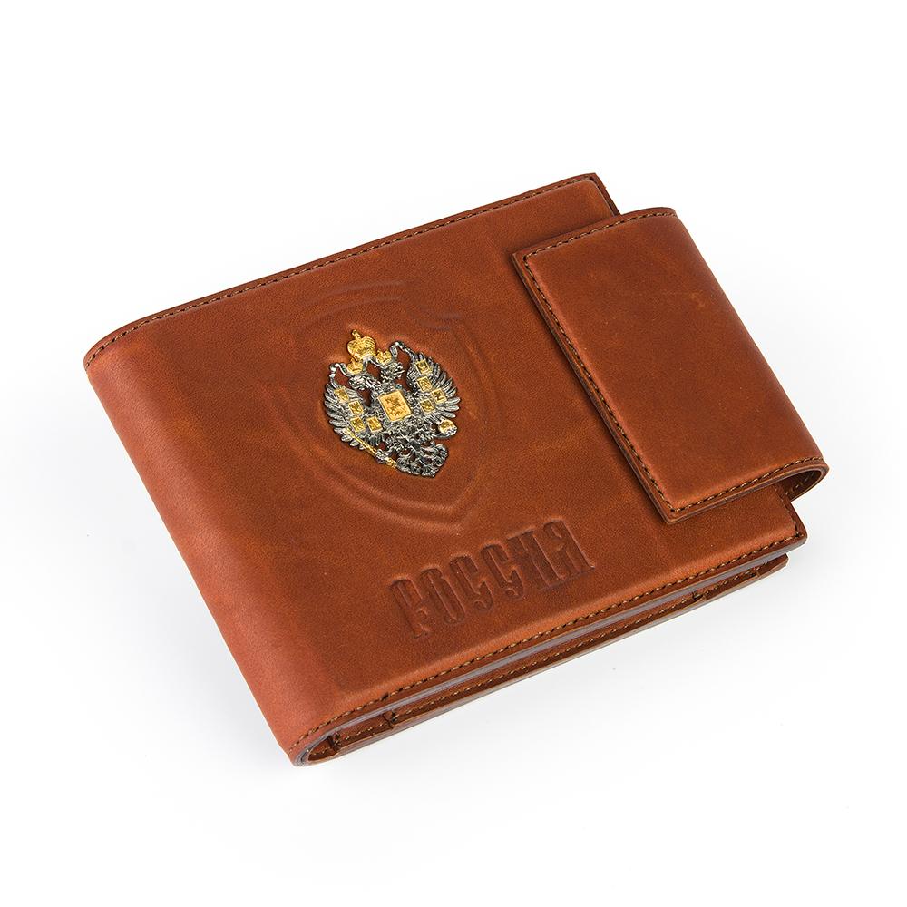 Кожаный кошелек с серебром в Екатеринбурге