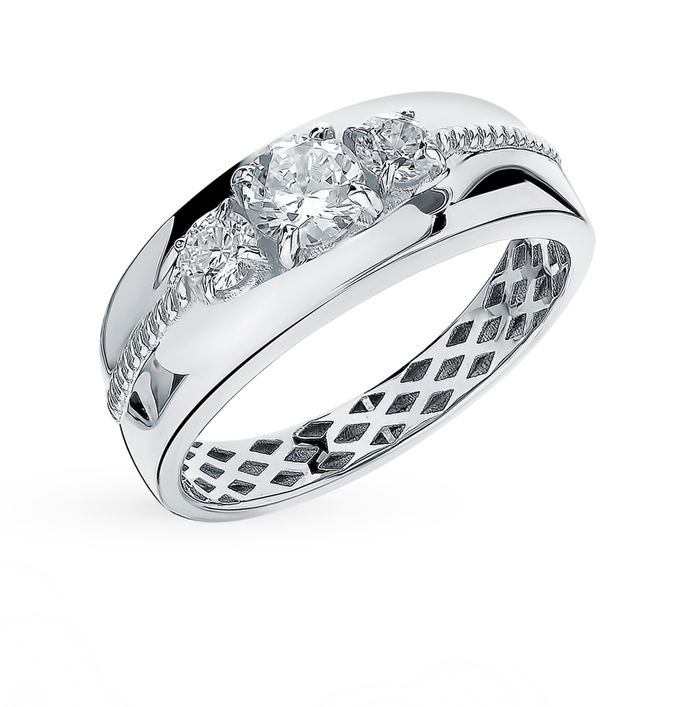 Фото «Золотое кольцо с фианитами SOKOLOV 018262-3*»