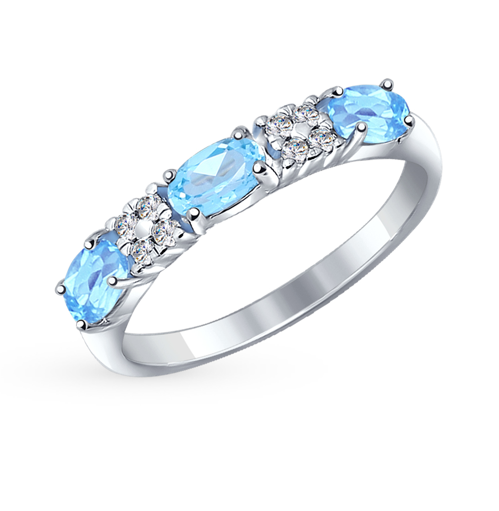 Фото «Серебряное кольцо с топазами SOKOLOV 92011280»