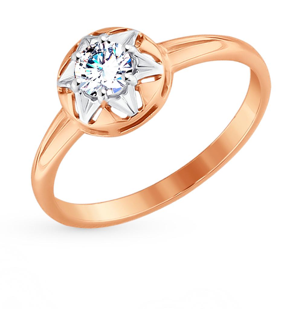 Фото «Золотое кольцо с фианитами SOKOLOV 017619*»