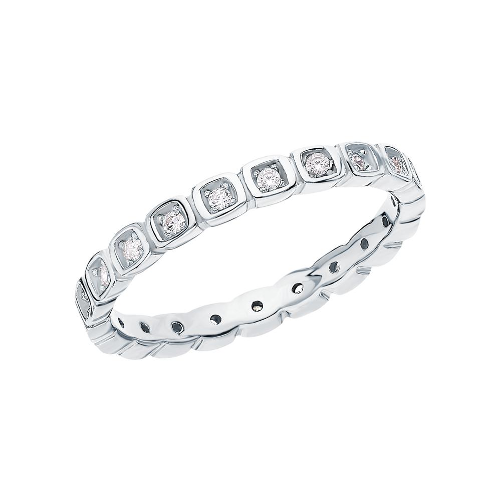 Серебряное кольцо с серебром и фианитами в Екатеринбурге
