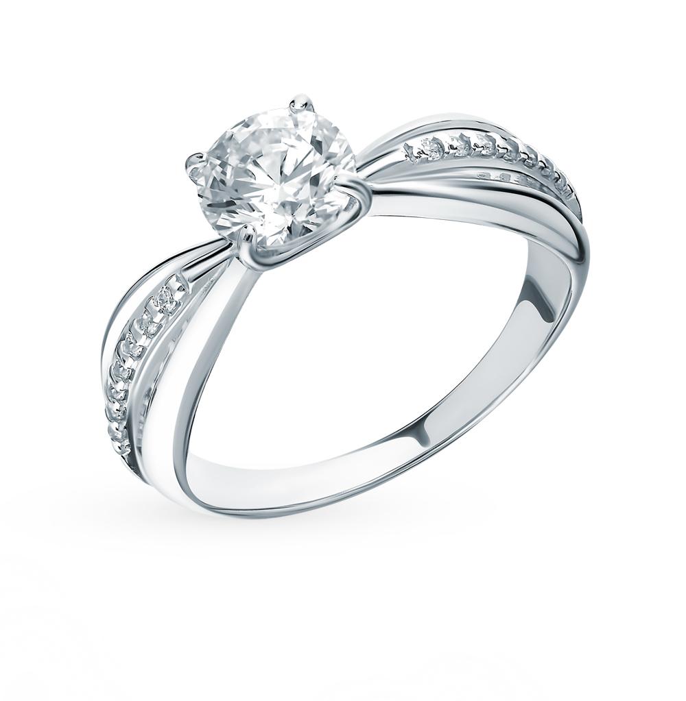 серебряное кольцо с фианитами SOKOLOV 89010109