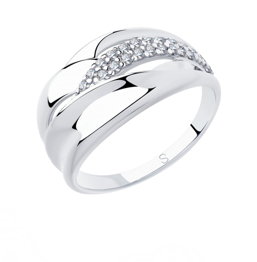 Серебряное кольцо с фианитами SOKOLOV 94012921 в Екатеринбурге