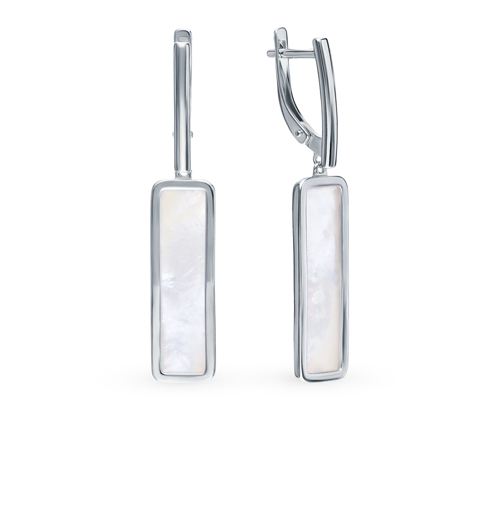 Серебряные серьги с перламутром SOKOLOV 94023509 в Екатеринбурге