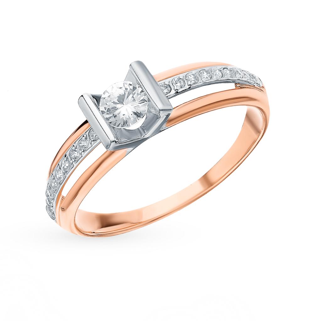 Фото «Золотое кольцо с фианитами SOKOLOV 018250*»