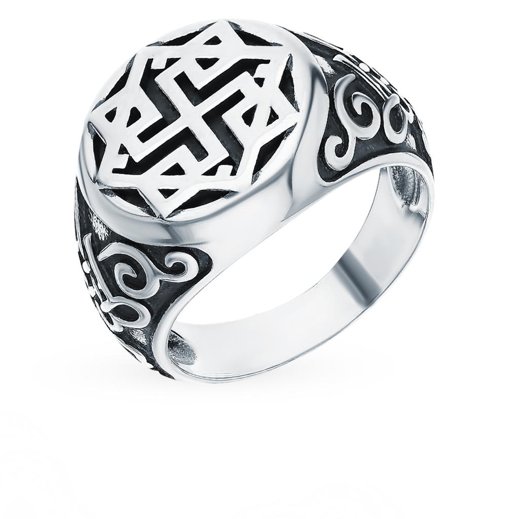 """Фото «Серебряное кольцо-оберег """"Валькирия в солнце""""»"""