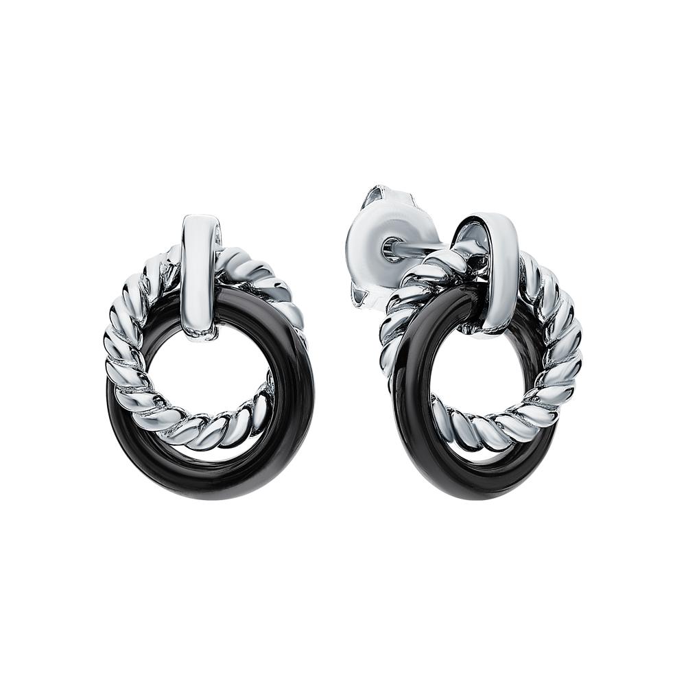 Фото «Серебряные серьги с керамикой»