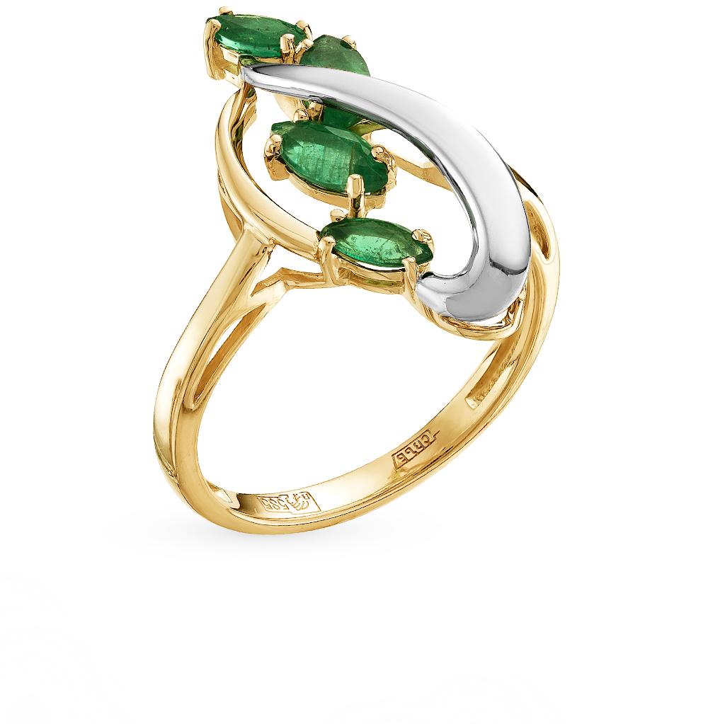 Золотое кольцо с изумрудами в Санкт-Петербурге
