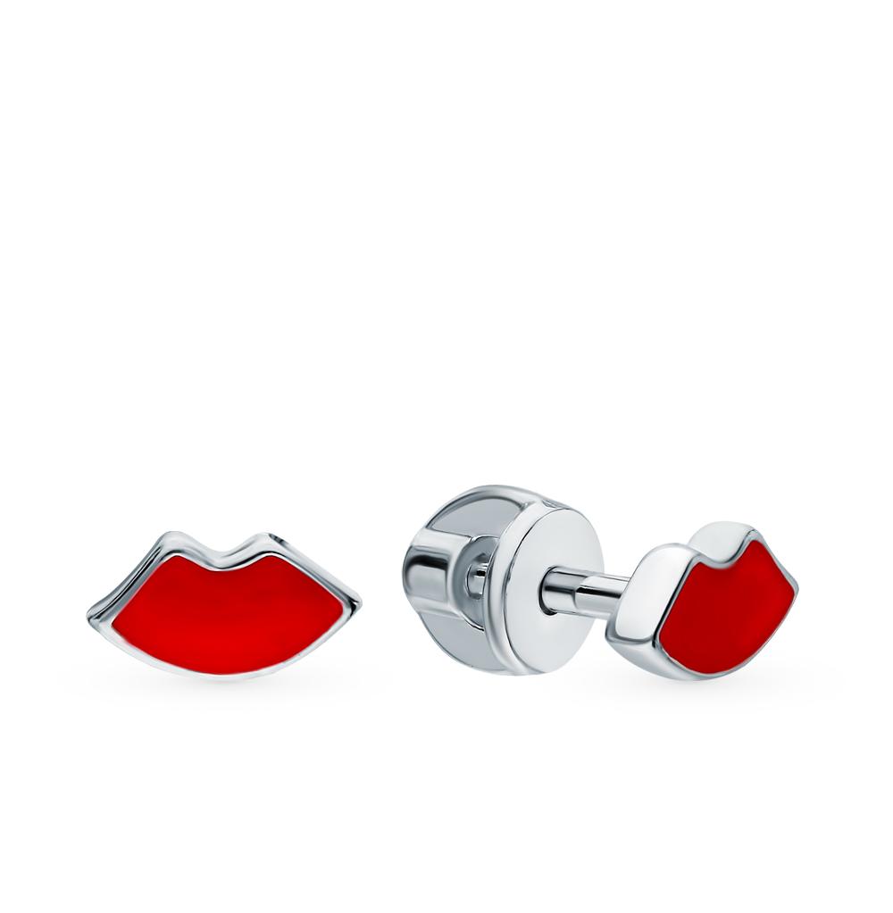 серебряные серьги с эмалью SOKOLOV 94022992