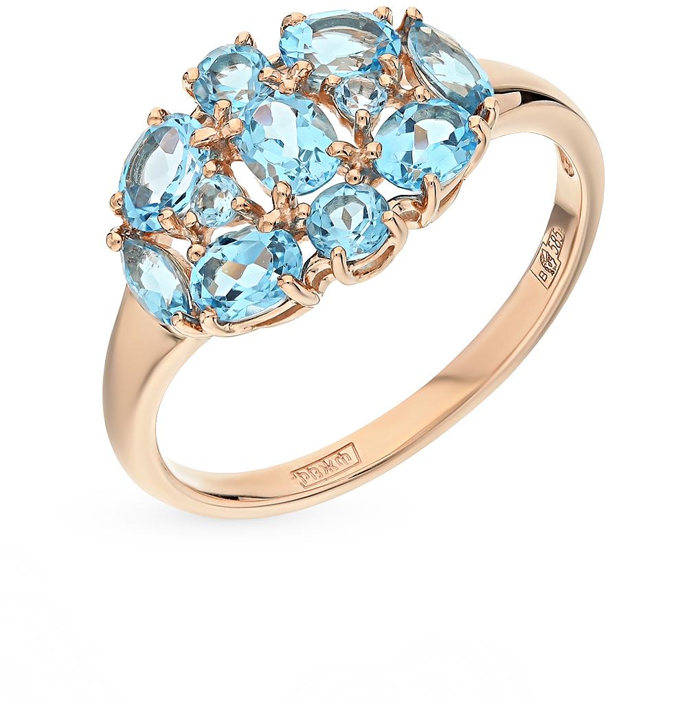 Фото «Золотое кольцо с топазами SOKOLOV 714256*»