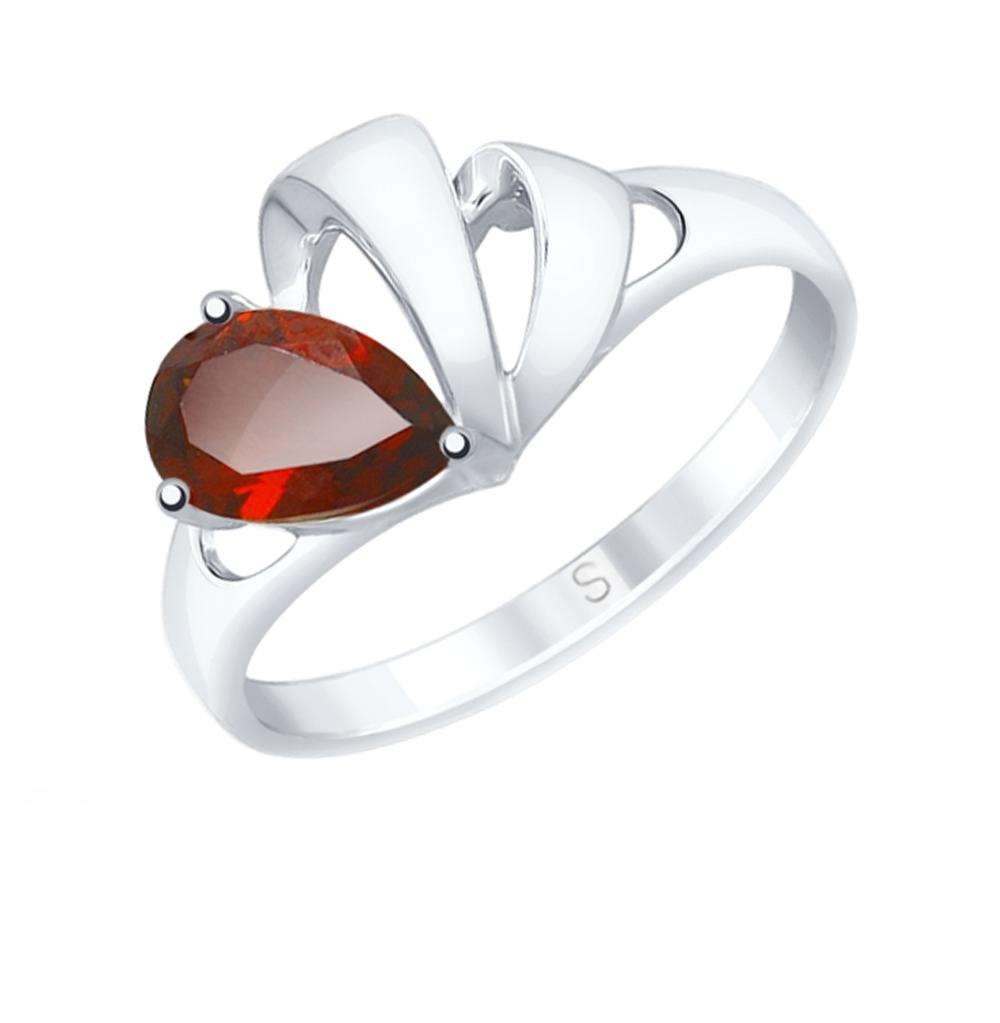 серебряное кольцо с гранатом SOKOLOV 92011583