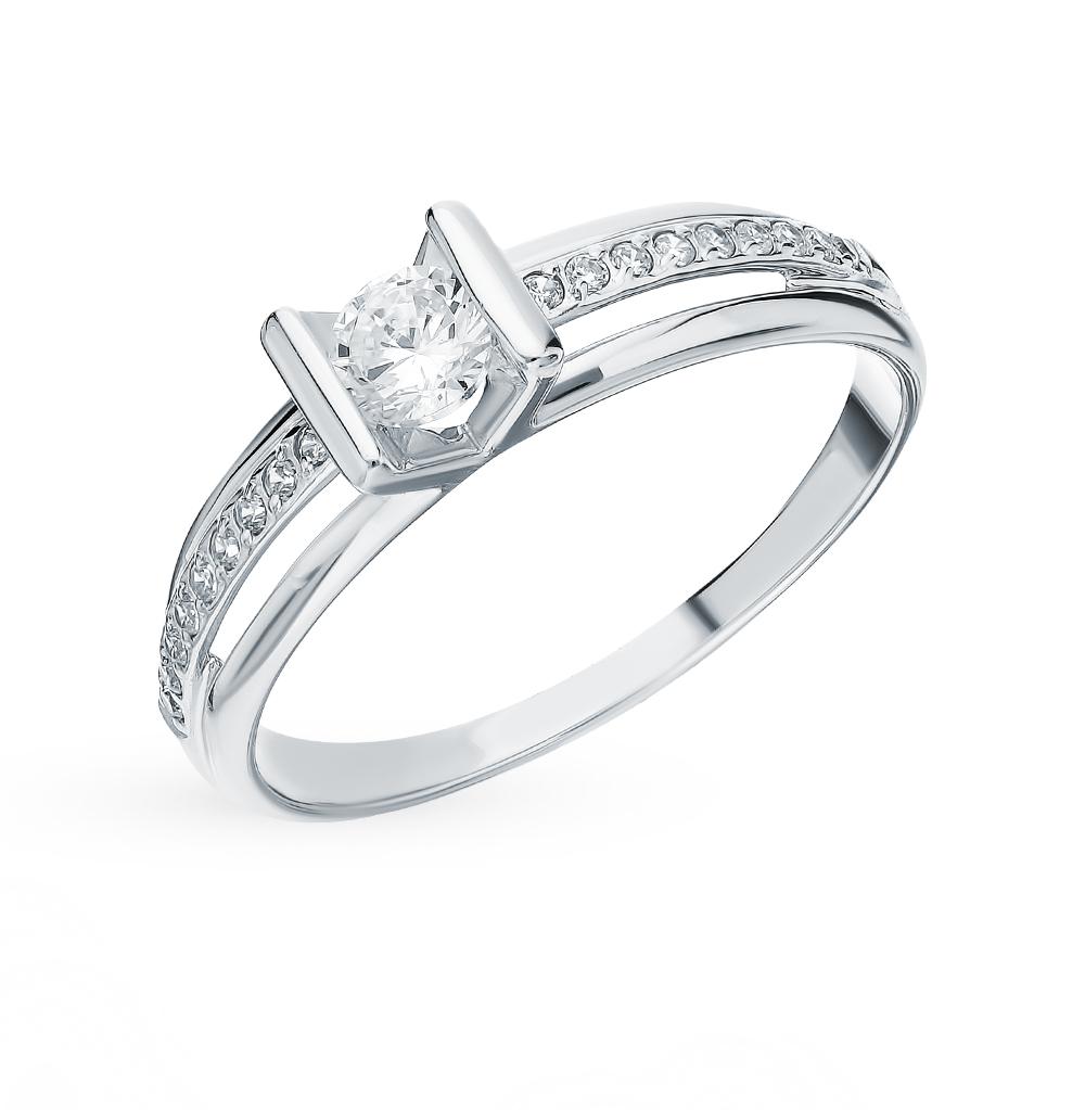 Фото «Золотое кольцо с фианитами SOKOLOV 018250-3*»