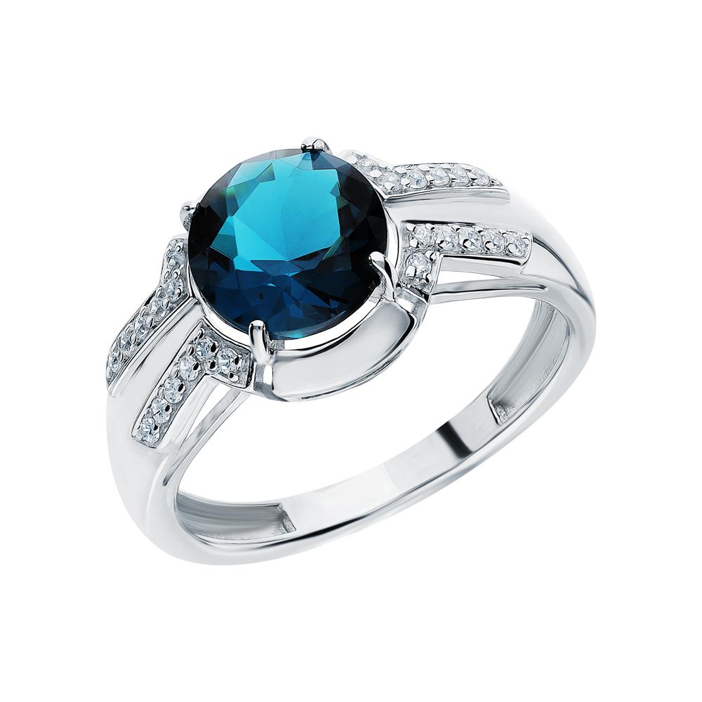 Серебряное кольцо с фианитами и ювелирными кристаллами в Екатеринбурге