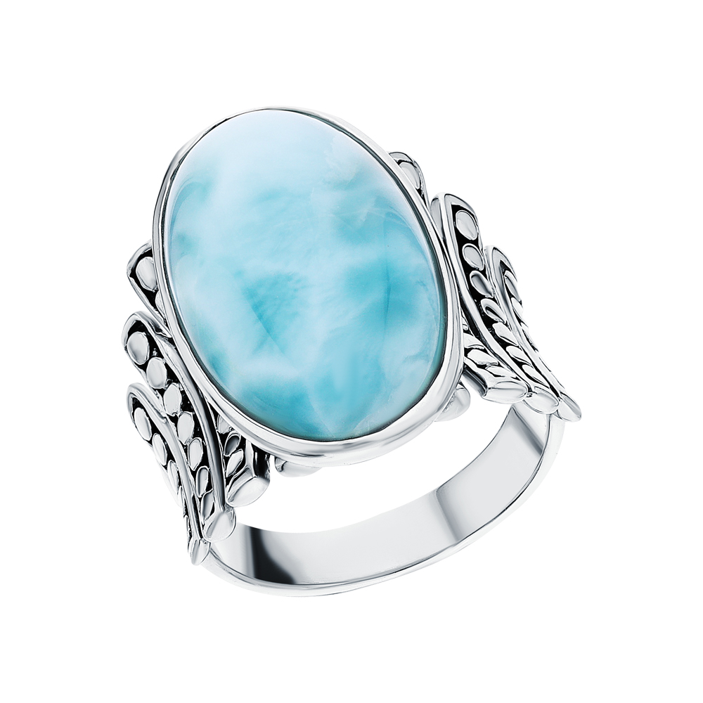 Серебряное кольцо с ларимаром в Санкт-Петербурге