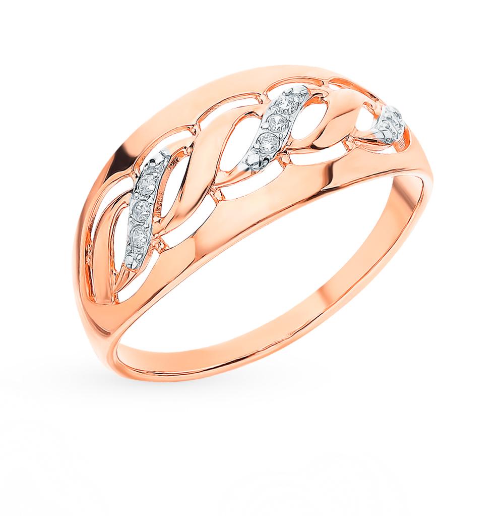 Фото «Золотое кольцо с фианитами SOKOLOV 51-110-00156-1*»