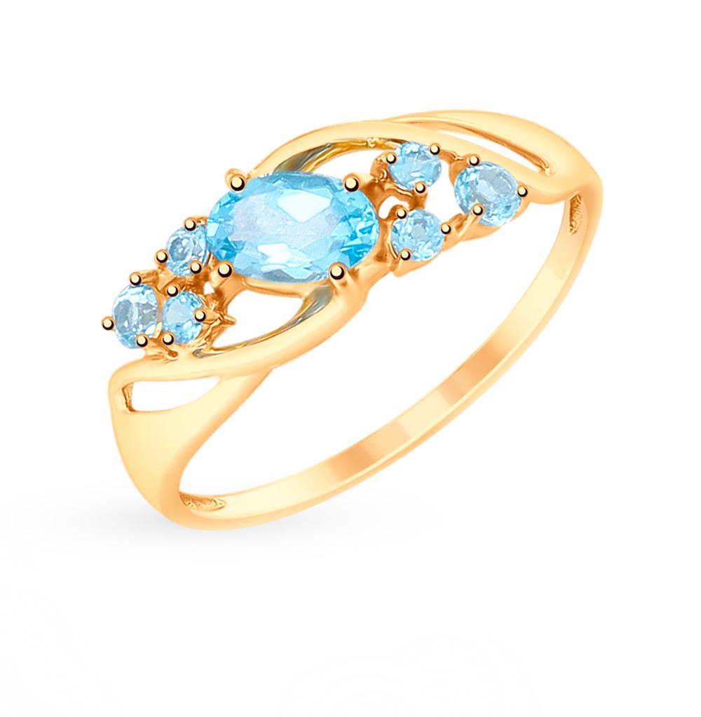 золотое кольцо с топазами SOKOLOV 715179*