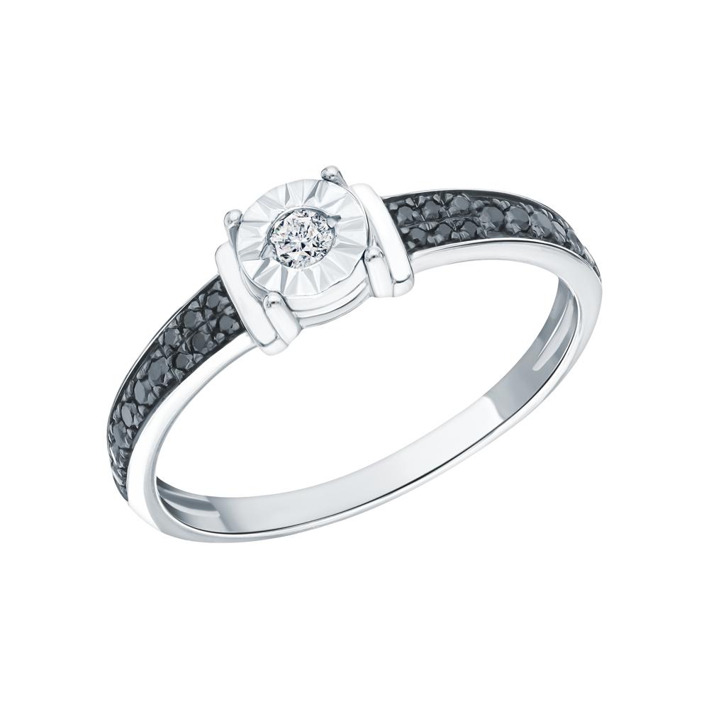 Фото «Золотое кольцо с бриллиантами чёрными и бриллиантами»