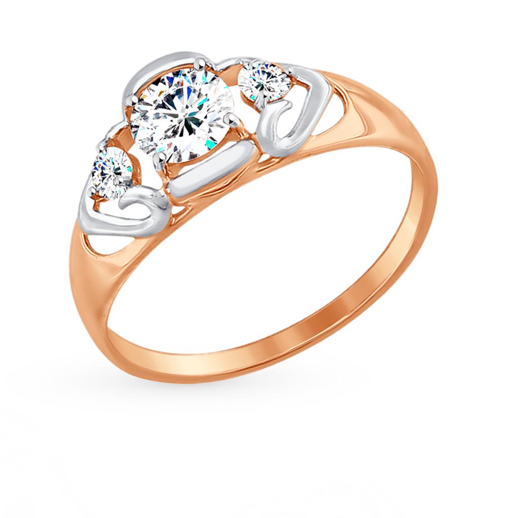 Фото «Золотое кольцо с фианитами SOKOLOV 017481*»