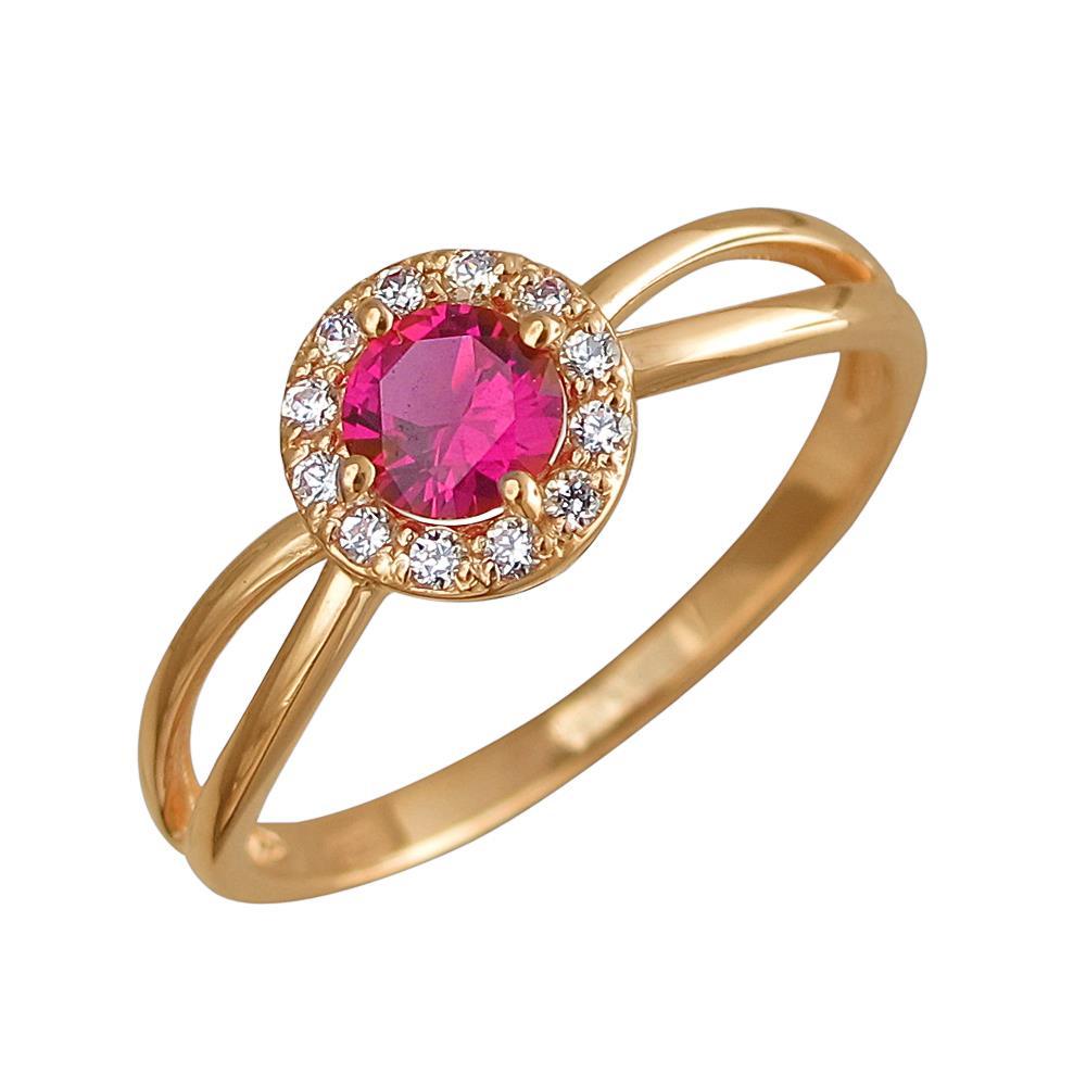 Золотое кольцо с корундом и фианитами в Санкт-Петербурге