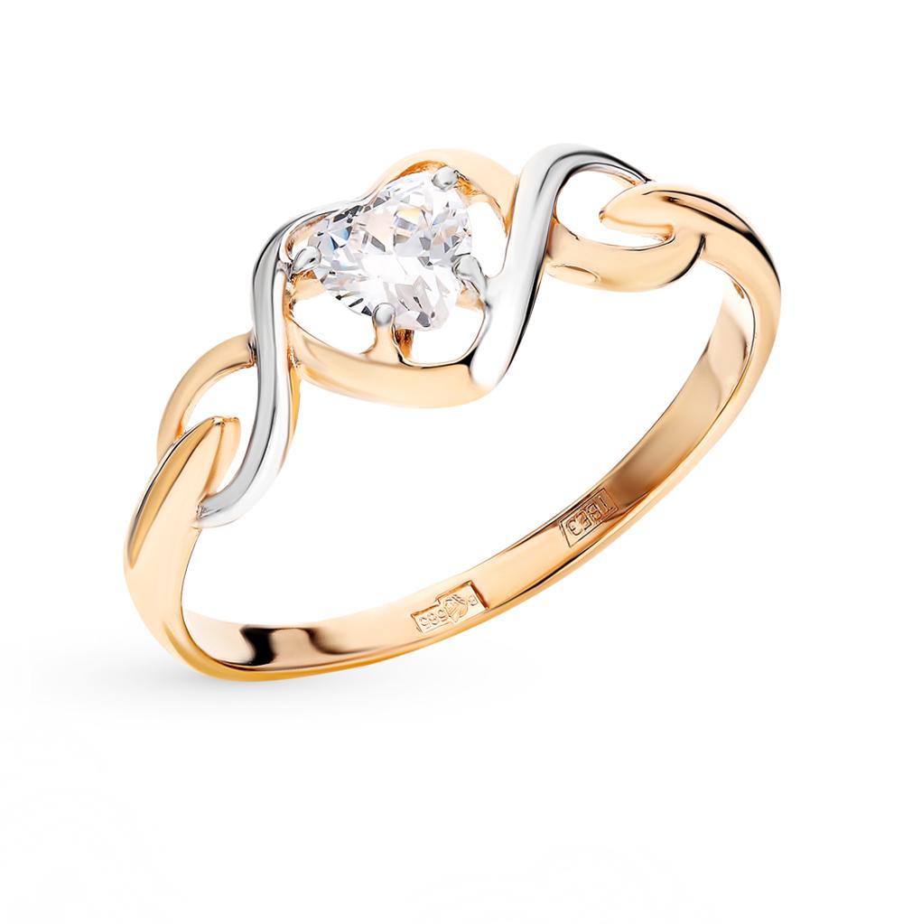 золотое кольцо с фианитами SOKOLOV 017487*
